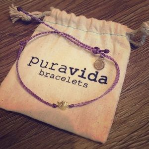 Peace Sign Purple bracelet